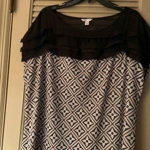 CATO 18/20 W Sheer Geometric blouse